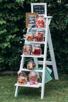 Ladder Wedding, Wedding Table, Fall Wedding, Wedding Ideas, Candy Bar Wedding, Wedding Ceremony, Wedding Sweets, Wedding Props, Wedding White