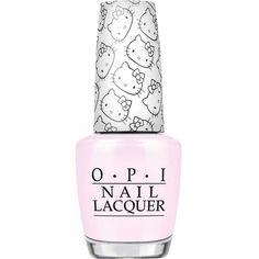 OPI Hello Kitty nail polish ($18) ❤ liked on Polyvore featuring beauty products, nail care, nail polish, opi nail lacquer, opi nail color, opi nail polish, opi nail care and opi nail varnish