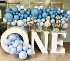 This is ONE fun birthday 💖💖 . Balloon Decorations Party, Birthday Party Decorations, Baby Shower Decorations, Baby Boy 1st Birthday, Birthday Fun, Baby Party, Baby Shower Parties, Monster Birthday Parties, Christening Balloons