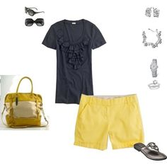 cute outfit... especially those yellow shorts
