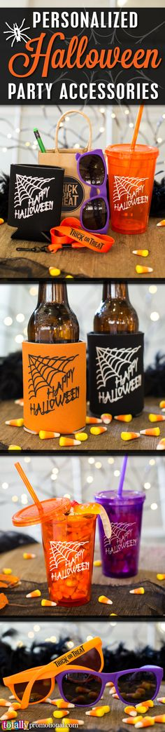 Make your Halloween festivities and trick or treating a night to remember!  We offer hundreds of #customizable party and trick or treat items in a variety of styles, sizes & color options to compliment any party!  Select artwork from one of many design ideas or submit your own artwork, we'll make it work and totally for you!