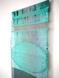 Justine Ashbee - Handwoven wall hanging for Native Line. Weaving Textiles, Weaving Art, Tapestry Weaving, Loom Weaving, Hand Weaving, Textile Fiber Art, Weaving Projects, Tear, Woven Wall Hanging