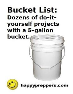 Get started prepping with our prepper lists, tips and ideas on preparedness, homesteading, prepping and survival! Homestead Survival, Camping Survival, Survival Prepping, Survival Skills, Outdoor Survival, Survival Gear, Five Gallon Bucket, 5 Gallon Buckets, Doomsday Prepping