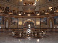 Second floor rotunda, Kansas State Capitol, Topeka