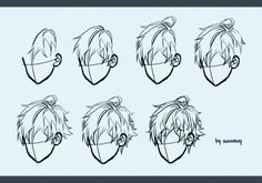 Drawing male hair by kawacy on DeviantArt