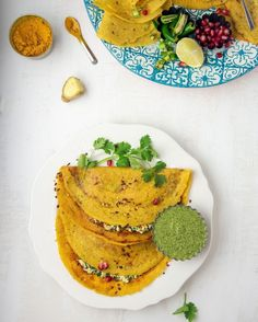 @soulfulpalate posted to Instagram: 🍃MOONG DAL CHILLA WITH PANEER AND SPINACH FILLING🍃 . . This is probably the top things I make for our meals whether breakfast, lunch, high tea, or even dinner. The moong dal is already yellow but I love to add turmeric, actually lots of turmeric to make it even brighter. Besides, curcumin in turmeric has many health benefits, mainly supporting immunity, which is much needed right now💛 . . This is my contribution for #worldofspicesnfl Moong Dal Chilla, High Tea, Salmon Burgers, Turmeric, Avocado Toast, Spinach, Food Photography, Lunch, Meals