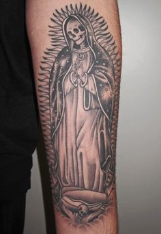 Tattoo Ideas, Tattoo Calf, Muerta Tattoo, Holy Death, Madre Muerte