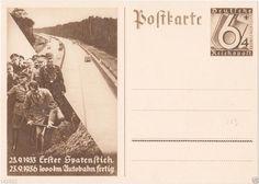 HITLER Postcard Postkarten DEUTSCHES REICH  Cutting Ceremony 1936 Propaganda