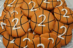 Sports Themed Birthday Party- Basketball cookies