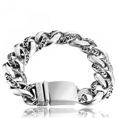 Bracelet Police Ornate acier - Police Trendy Bracelets, Bracelets For Men, Style Grunge, Police, Stainless Steel, Silver, Stuff To Buy, Collection, Jewelry