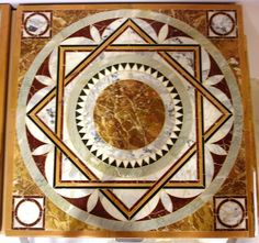 "Marble inlaid ""Ostia Marina"" top"