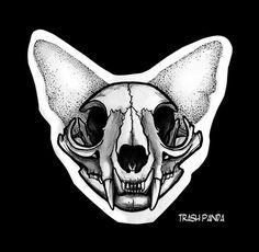 New Drawing Skull Cat 39 Ideas Animal Skull Drawing, Animal Skulls, Cat Drawing, Drawing Ideas, Skull Cat, Cat Skull Tattoo, Cat Skeleton, Skeleton Drawings, Skull Illustration