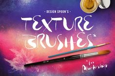 Photoshop Texture Brushes by DesignSpoon on Creative Market