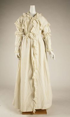 Peignoir 1821–23 cotton