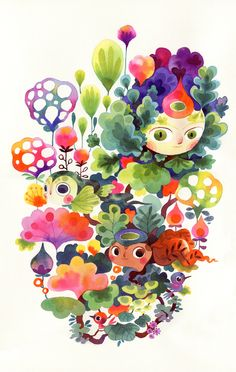 Fantastical Flora & Fauna - Sprouts on Behance by Lorena Alvarez Gomez