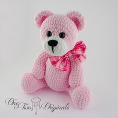 Items similar to Rose the Teddy Bear amigurumi - Ready to Ship on Etsy Rose is a sweet little bear who loves to walk and play with her friends. She measures about 15 inches and is super soft. Crochet Teddy, Crochet Bear, Crochet Animals, Crochet Dolls, Crochet Pillow, Baby Annabell, Amigurumi Doll, Handmade Toys, Pet Toys