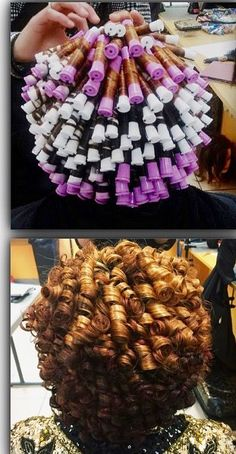 11 Bomb Perm Rod Set On Natural Hair Pictorials & Photos Natural Hair Care, Natural Hair Styles, Roller Set Natural Hair, Natural Beauty, Big Perm, Perm Rod Set, Spiral Curls, Spiral Perm Short Hair, Pelo Afro