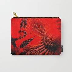 Ammonite Red & Buddleia Red Carry-All Pouch