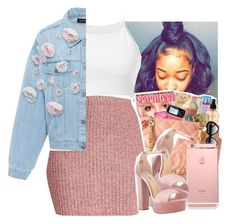 """""""flowery like """" by jchristina ❤ liked on Polyvore featuring Parisian, Anouki and Steve Madden"""