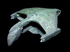 star trek starships | ... Models and Paper Toys: Star Trek Papercraft: Romulan Warbird Starship