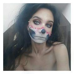 #halloween #skull #skullmakeup #glam #slay #browsonfleek #scary #blood #octomber #fall #autumn #myart #art