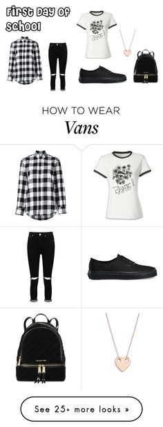 """""""p!atd"""" by toomanybandsnotenoughtime on Polyvore featuring Boohoo, Vans, Golden Goose, Ginette NY and Michael Kors"""
