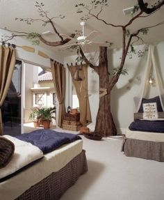 A tree would be super cute in a kids room