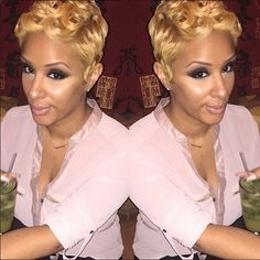 Blonde Pixie Poppin Color @veediddy - http://community.blackhairinformation.com/hairstyle-gallery/natural-hairstyles/blonde-pixie-poppin-color-veediddy/#naturalhairstyles