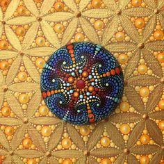 Mandala Stone hand painted dot painting
