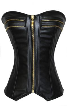 Style Leather over Bust Sexy Corset