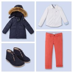 Great boys outfit for fall. The Chukka Boots are fantastic