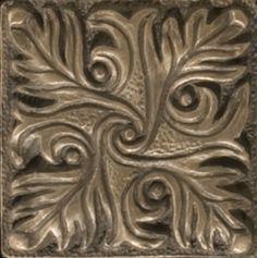 """Renaissance 2"""" x 2"""" Parma Insert Tile in Antique Bronze"""