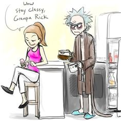 Rick and Morty - Stay Classy by on DeviantArt Ricky Y Morty, Rick Und Morty, Wubba Lubba, Get Schwifty, Stay Classy, Homestuck, Pop Culture, Deviantart, Art Google