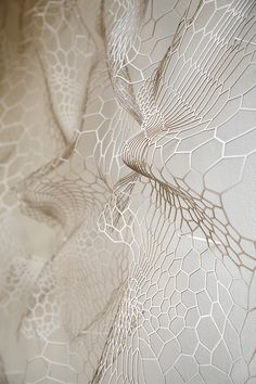 'annsunwoo | Memory of Skin | paper, 2013'  textual, shape inspiration. folding - similar to veins in flowers petal.