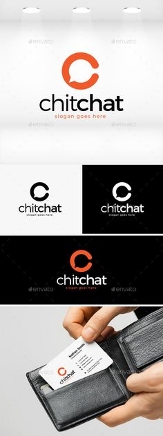 Chit Chat - Logo Design Template Vector #logotype Download it here: http://graphicriver.net/item/chit-chat-logo/11874588?s_rank=943?ref=nexion