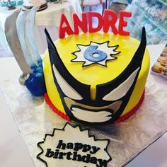 Wolverine cake #carinaedolce www.carinaedolce www.facebook.com/carinaedolce Wolverine Cake, Childrens Parties, Birthday Cake, Facebook, Party, Desserts, Food, Birthday Cakes, Meal