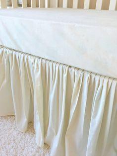 Gathered Crib Skirt Cream Gathered Crib Skirt by RitzyBabyOriginal