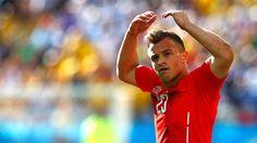 El 23 de Suiza pide el aliento de los corintianos... Argentina 1 Suiza 0 .......... Gol de Di Maria..... en tiempo suplementario..... 1 julio de 2014.. octavos de final..  Estadio Arena Corinthias ... San Pablo.. Brasil.