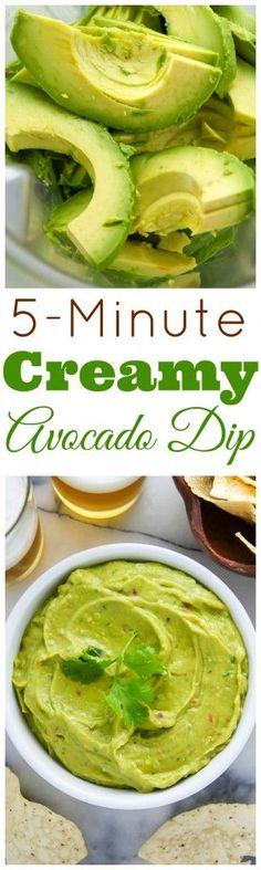 Creamy Avocado Dip Recipe #Avocadodip, #Avocadodiprecipe, #Avocados