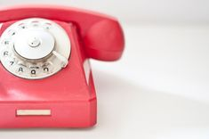 Vintage Rotary phone  Red  Vintage Home Decor  by CuteOldThings on Etsy.