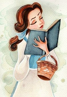 Belle reading an awesome book.