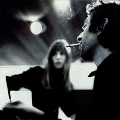 under-the-paris-sky: Jane Birkin & Serge Gainsbourg Serge Gainsbourg, Gainsbourg Birkin, Charlotte Gainsbourg, Jane Birkin Style, Provocateur, Portraits, French Actress, Monochrom, Beautiful People