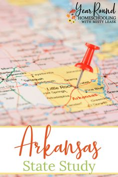 Learn all about Arkansas' history, geography and more through this Arkansas State Study as part of your homeschool geography class. #Arkansas #USA #Geography #ArkansasStudy #ArkansasUnit #ArkansasUnitStudy #ArkansasStateStudy #Homeschool #Homeschooling #YearRoundHomeschooling