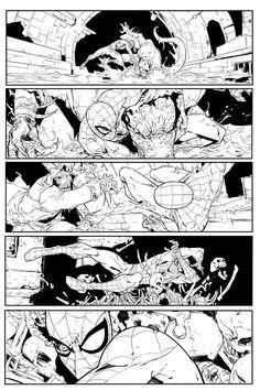 Giuseppe Camuncoli's Amazing Spider-Man Page by TommyDamnInks.deviantart.com on @DeviantArt