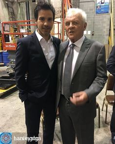 From Santiago's Instagram Backstage with the legend Anthony Hopkins #transformers