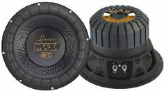 Lanzar MAX12 Max 12-Inch 1000 Watt Small Enclosure 4 Ohm Subwoofer by Lanzar. $40.17. Black Non-Pressed Paper Cone Wide Non-Fatiguing Rubber Suspension Stamped Steel Basket w/Golden Input Terminal Bumped & Vented Motor Structure Special Designed Rubber Magnet Boot 2-Inch 4 Layer High Temperature Kapton Voice Coil 65 + 65 oz. Heavy Double Stacked Magnet Structure 1000 Watts Peak Power 4 Ohms Nom. Impedance SPL: 91.9 dB Mounting Depth: 6.42-Inch Overall Diameter: 12....