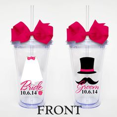 Hey, I found this really awesome Etsy listing at https://www.etsy.com/listing/200147794/bride-and-groom-set-of-2-acrylic-tumbler