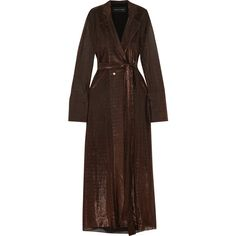 Michael Lo Sordo Lurex maxi shirt dress ($355) ❤ liked on Polyvore featuring dresses, coats, long dresses, black, maxi dresses, loose dress, cami dresses and loose fit maxi dress