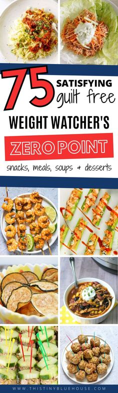 75 MUST TRY Zero Point Weight Watchers Food and recipe ideas that are sure to make sticking to your diet an absolute breeze. Weight Watchers Meal Plans, Weight Watchers Breakfast, Weight Watcher Dinners, Weight Watchers Desserts, Healthy Eating Recipes, Healthy Snacks, Healthy Toddler Meals, Toddler Food, Ww Recipes
