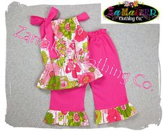 Girls Clothing Custom Boutique Floral Bubble by ZamakerrClothingCo, $42.50